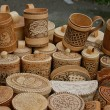Wooden souvenirs — Stock Photo