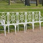 White garden bench — Stock Photo #1036165