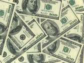 Background of hundred dollar bills — Stock Photo