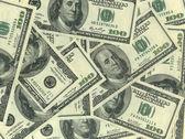 Background of hundred dollar bills — Stock Photo