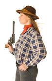 Cowgorl se zbraní 2 — Stock fotografie
