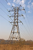 Power transmission pole — Stock Photo