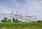 A power transmission pole ready to be mounted — Stock Photo