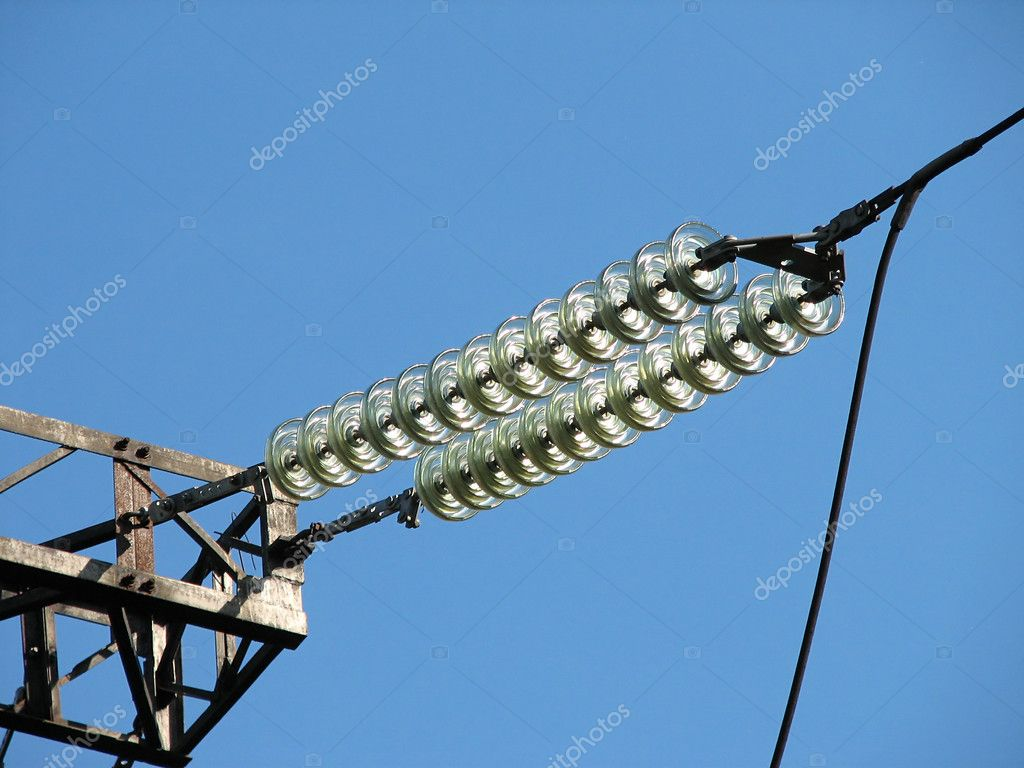 Insulators of a power transmission tower — Stock Photo #1030935