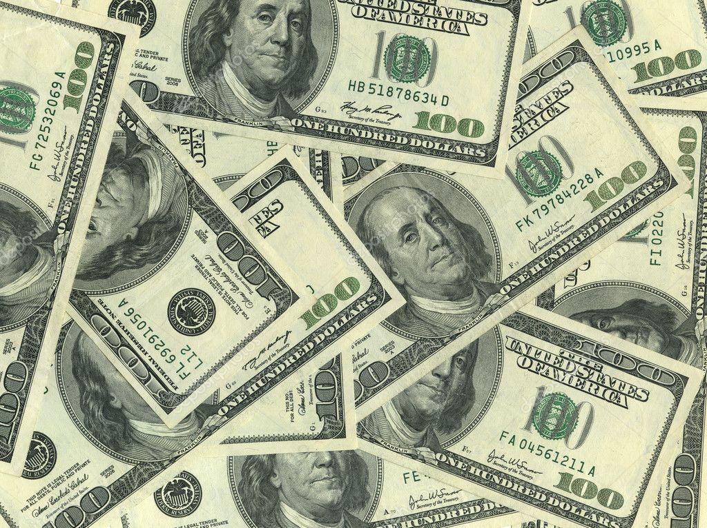Background of 100 dollar bills  Shutterstockcom