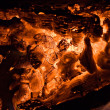Stock Photo: Hot coal texture