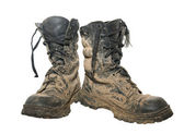 Dirty boots — Stock Photo