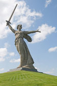 Monument Motherland calls in Volgograd — Stock Photo