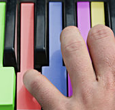 Color piano — Stock Photo