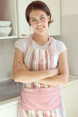Girl in the kitchen — Stock Photo