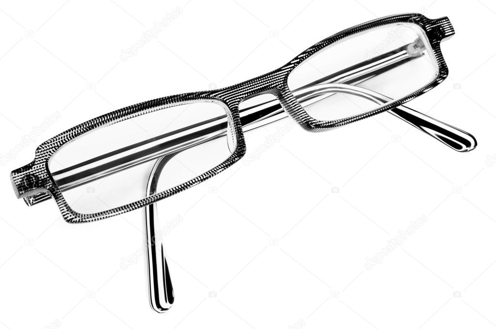 A pair of black and white glasses — Stock Photo #1035019
