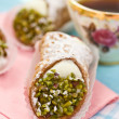 Italian cannoli sweets - Stock Photo