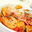 Pasta and seafood - Stock Photo