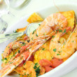 Stock Photo: Seafood and pasta1