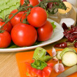 Tomatoes and vegetables — Stock Photo