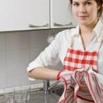 Young woman doing housework — Stock Photo #1051692