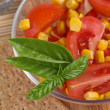 Salad with tomato and corn — Stock Photo #1052674