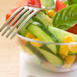 Royalty-Free Stock Photo: Salad and fork