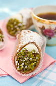 Italian cannoli sweets — Stock Photo