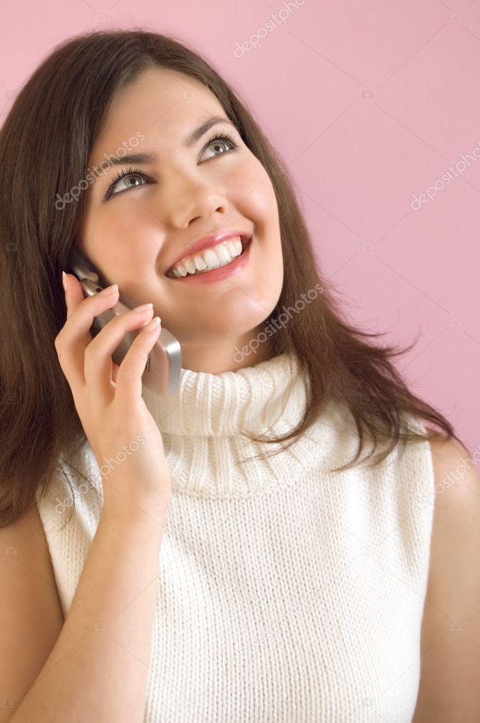 Girl with phone — Stock Photo © ninette_luz #1051553