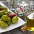 Stock Photo: Olive and olive oil