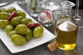 Olive and olive oil — Stock Photo