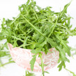 Isolated Rucola Leaves — Stock Photo