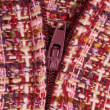 Purple Textile background and zipper — Stock Photo #2528823