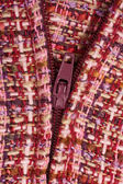 Purple Textile background and zipper — Stock Photo