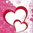 Valentine or wedding card — Vector de stock