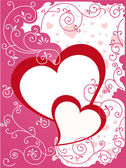 Valentine or wedding card — Stockvector
