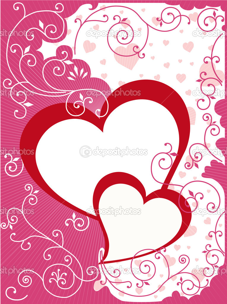 Illustration composition design for Valentine or wedding card  Stock Vector #1089333