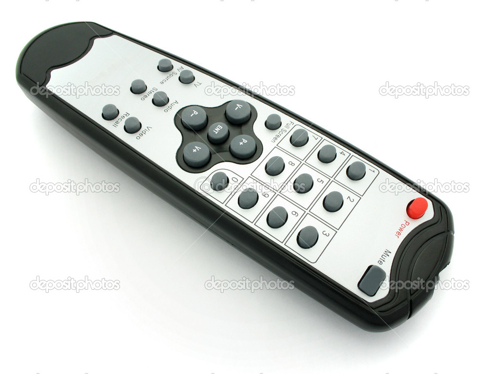 TV remote control isolated on white background  — Stock Photo #1102354