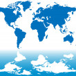 Royalty-Free Stock Imagen vectorial: World map