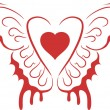 Heart with wings — Stock Vector #1111067