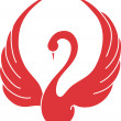 Swan logo - Imagen vectorial