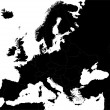 Black Europe map — Stock Vector