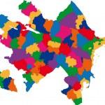 Colorful Azerbaijan map — Stock Vector #1142810