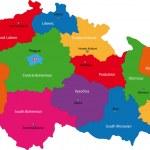 Czech Republic map — Stock Vector