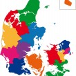 Denmark map - Stockvectorbeeld