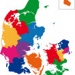 Denmark map — Stockvektor