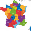colorful france map — Stock Vector