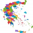 Stock Vector: Colorful Greece map