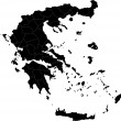 Stock Vector: Greece map