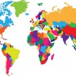 Colorful World map - Stok Vektör
