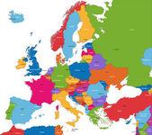 Mappa di europa — Vettoriale Stock