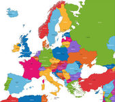 欧洲地图 — 图库矢量图片