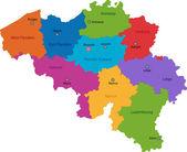 Belgium map — Stock Vector