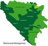 Bosnia and Herzegovina map — Stock Vector