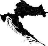 Mapa de las divisiones administrativas de la república de croacia — Vector de stock